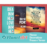 Placas Decorativas Frases - Motivacionais - Engraçadas 20x13