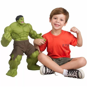 Boneco Hulk Gigante 55 Cm Verde Articulado Premium Original