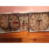 Reloj De Pared Tamaño Gigante Con Pendulo Simil Antiguo