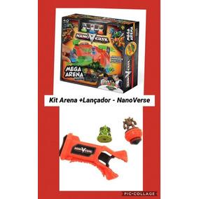 Kit Beyblade Nanoverse Mega Arena + Lançador + 2 Pioes