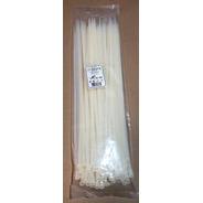Precintos Plásticos Por 100 Unid. 4,7 X 350 Klokan Blancos