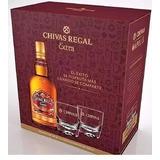 2 Whisky Chivas Regal Extra 750ml+4 Vasos Apo Envio Gratis!