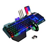 Combo Kit Gamer Teclado Mouse Pad Inalámbrico Xinmen K680