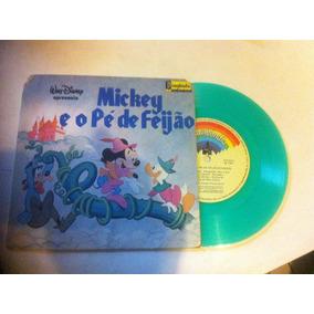 Compacto Disney Vinil Colorido - Mickey E O Pé De Feijão