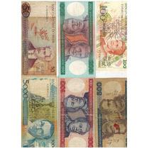 Coleção De Cédulas Antigas De Dinheiro Brasileiro - 18 Notas