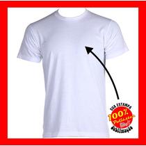 Camiseta Branca Sublimação Lisa 100% Poliéster Malha Pp