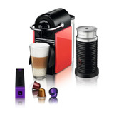 Cafetera Nespresso Pixie Clips White And Red Mas Aeroccino 3