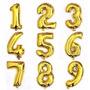 Globos Metalizados Numeros Dorados Y Plateados