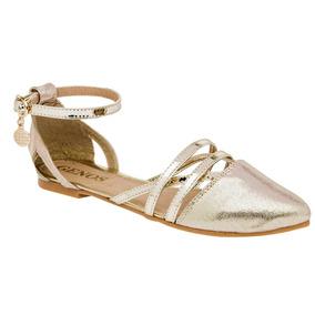 Flats Casual Para Dama Marca Celex Ocre 7116 + Envio Dgt
