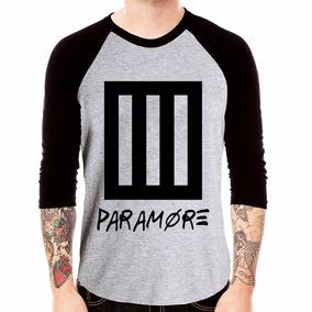 Camisa Blusa Raglan 3/4 Banda Paramore