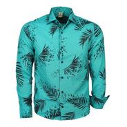 Camisa Masculina Djak Ideal Para Verão Estampas Folhagem 210