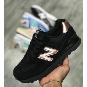 zapatillas new balance mujer negro dorado