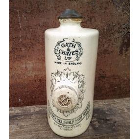 Botella Antigua Ceramica Calienta Pies Gath Y Chaves England