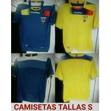 Camisetas Originales De Ecuador Alterna Y Titular Talla S