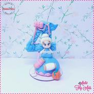 Velas Decoradas Biscuit Vela Aniversario Cinderela Princesa