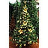 Árbol De Navidad Premium 1,80 + Kit Alambre 60 Pzas Oro.