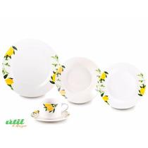 Aparelho Jantar Porcelana 20 Peças Lemons Lyor Classic 2141