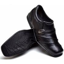 Sapato Social Masculino Infantil Menino Conforto Cor Preto C