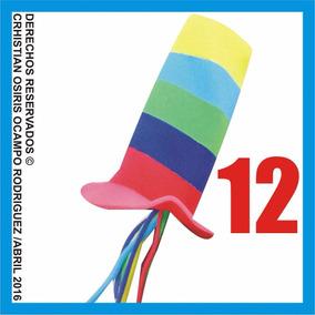 12 Sombreros Espuma Fiesta Boda Peluca Lentes Dj Gorros Xv