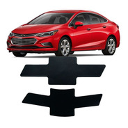 Emblema Adesivo Gravata Chevrolet Cruze 17 Hach/sedan Preta