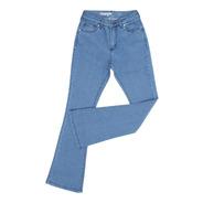Calça Jeans Flare Feminina Azul Com Elastano Original Wrangl
