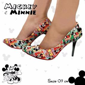 Scarpin Mickey Mouse Quadrinhos - Entrega Imediata.