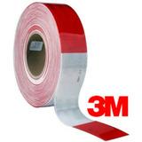 Cinta Reflectiva Marca 3m Color Rojo-blanco Rollo X 45.7m