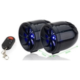 Bocinas Amplificadas De Moto Estereo Mp3 Color Negro