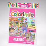 50 Kit Colorir Revistinha Giz Lembrança Da Dora Aventureira