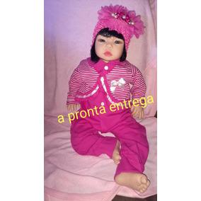Bebê Realista Tipo Reborn 50cm Frozen Boneca