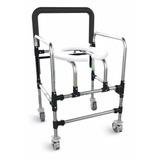 Cadeira Banho Dobrável Rodas Deficientes E Idoso Aluminio
