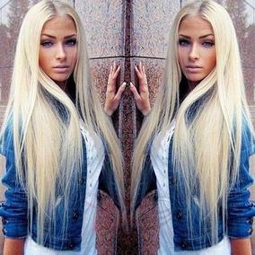 Peruca Sem Franja Loira Ombre Hair- Idêntica A Cabelo Humano