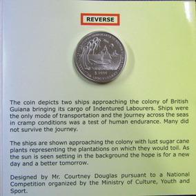 Blister Moneda Guyana 2000$ 175anv Inmigración En Barco 2013