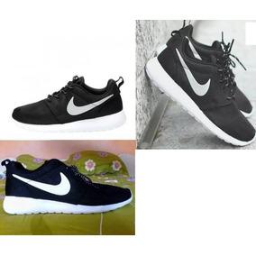 Nike Rosherun Negro Black Talla 42 Y 44 Zapatos Deportivos