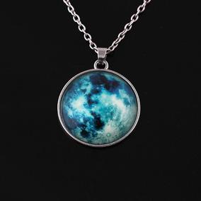 Collar Luna Llena Glow, Brilla En La Obscuridad