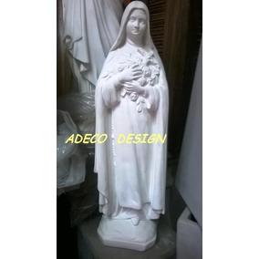 Virgen Cemento Estatua Rosa Mistica Santa Teresita Escultura