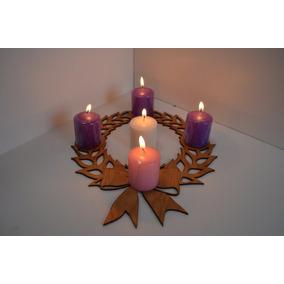 Corona De Adviento/navidad/decoración