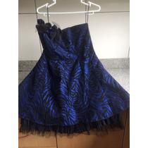 Vestido Azulino Con Negro Talla S De Marca Dorsay Straple