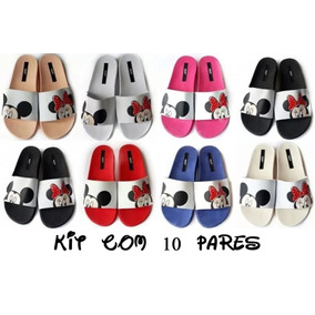 Kit 10 Sandalias Atacado Melissa Beach Slide Mickey