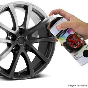 Kit 4 Spray Líquido Envelopamento Plástico Rodas Preto Fosco