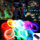 Wire Hilo 3m Luminoso Luz Neon Dj Cable Tron Led Fl+inversor