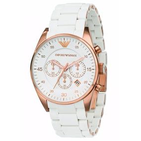 Relógio P00120 Emporio Armani - Ar5919 Rosê Gold E Branco