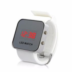 Reloj Led Watch Silicona Blanco Nuevo Sin Pilas