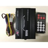 Amplificador Auto/moto 800w Pmpo 2ch, Usb Aux Radio Ctrl Rem