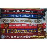 Bufandas Importadas Bayer Munich/milan/inter/juventus/real M