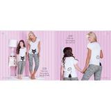 Pijama Mamá E Hija Lindos Diseños 2 Y 3 Piezas