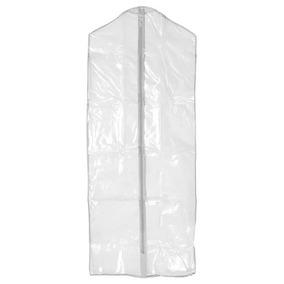 15 Capa De Plástico Para Roupas Com Zíper 60 X 137 Cm