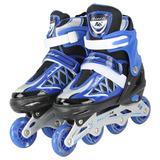 Patins Roller Semi-pro Azul Regulável