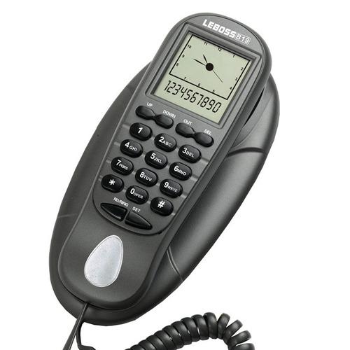 Telefone Gondola Mesa Parede Id Chamadas C/ Fio Lebos B19