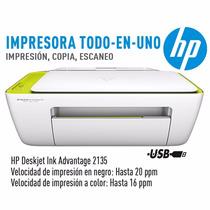 Impressora Hp Deskjet Ink Advantage 2135 Copiadora, Scanner